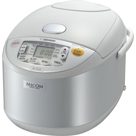 Zojirushi 10-Cup Umami Micom Rice Cooker & Warmer, Pearl White #NS-YAC18WE