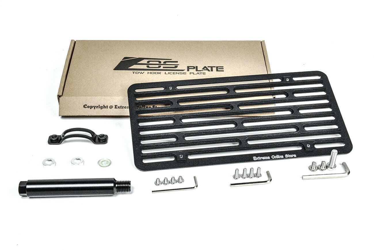 EOS Plate For 10-15 Jaguar XFR-S XFR Front Bumper Tow Hook License Mount Bracket