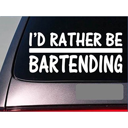 Halloween Mixed Drinks And Shots (I'd Rather be a Bartending *H656* 8 inch Sticker decal bar mixed drink shot)