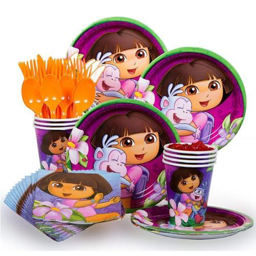 Dora Party Standard Kit (Serves 8) - Party Supplies