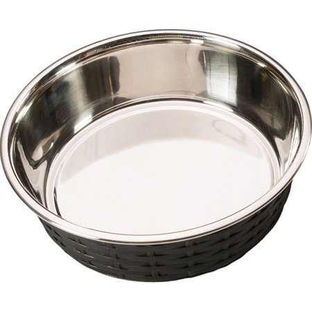 Ethical Ss Dishes-Soho Basketweave Dish- Black 30 (30 Ounce Canister)