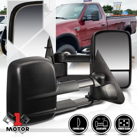 [Pair]Power Extendable Towing Side Mirror for 97-04 Ford F150/F250 Light Duty 98 99 00 01 02 - Extendable Towing Mirrors