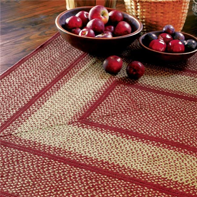 Homespice Decor 514738 5 x 8 ft. York Jute Rectangular Braided Rug - Red, White - image 1 of 1