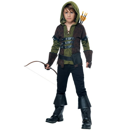 Robin Hood Child Halloween Costume](Hooded Huntress Child Costume)