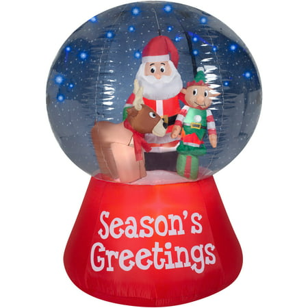Gemmy airblown inflatables christmas inflatable snowglobe for Outdoor christmas globes