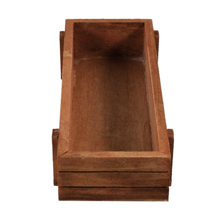 Image of OTVIAP Wooden Planter Box,Indoor/Outdoor Wooden Herb Flower Succulent Planter Box Home Garden Rectangle Storage box Planter Box