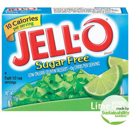 Jell-O: Sugar Free Lime Low Calorie Gelatin Dessert, .6 Oz