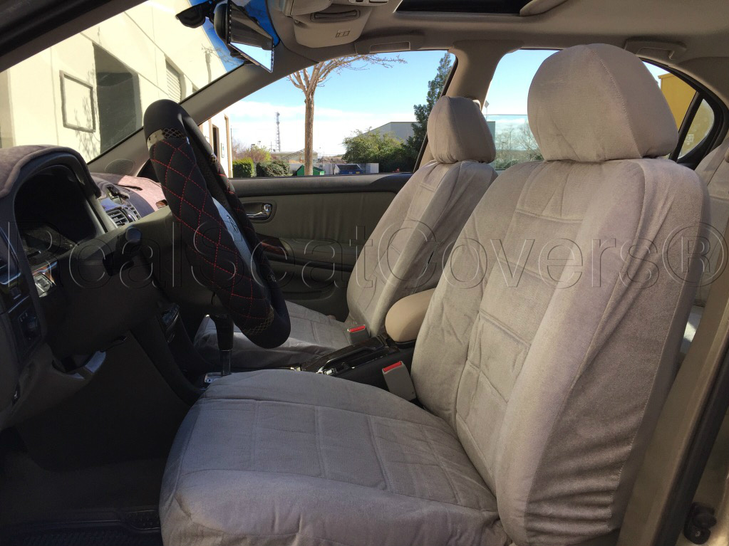 Thick Heavy Protective Smooth Textured 4pc Front 2 Seat Cover NISSAN XTERRA  (Gray Grey)   Walmart.com