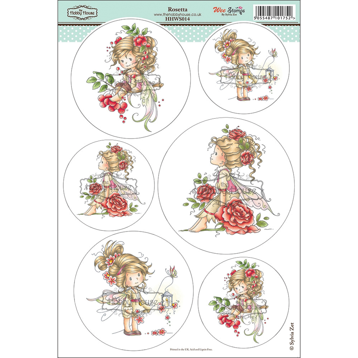 "Wee Stamps Topper Sheet 8.3""X12.2""  -Rosetta"
