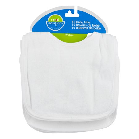Neat Solutions Baby Bibs White - 10 CT10.0 (Fabric Baby Bib)