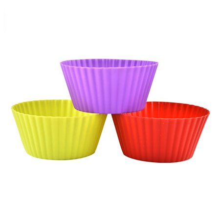 3pcs Round Shaped Silicone Cake Baking Molds Jelly Mold