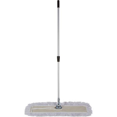 Tidy Tools 30 inch Industrial Strength Cotton Dust Mop with Metal  Telescopic Handle and Frame  30'' X 5'' Wide Mop Head with Cut Ends -  Hardwood Floor