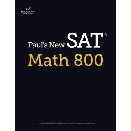 Pauls New Sat Math 800