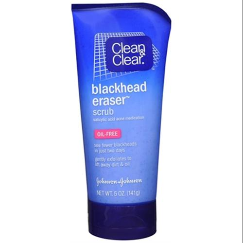 CLEAN & CLEAR Blackhead Eraser Scrub Oil-Free 5 oz (Pack of 2)