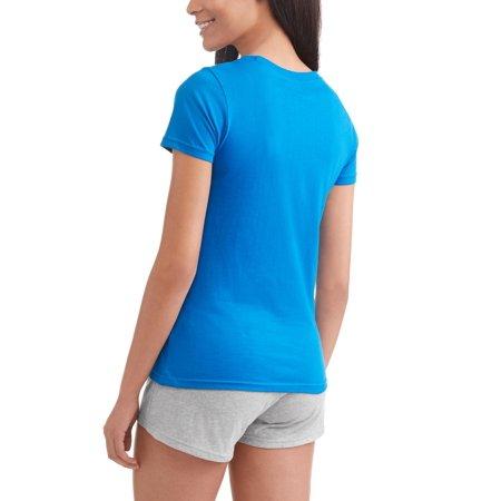 Marvel Comics Women's 2-Piece PJ Shorts Sleepwear Set- Groot, Avengers, Spider-Man Graphics, Blue, Size: M - image 2 de 3