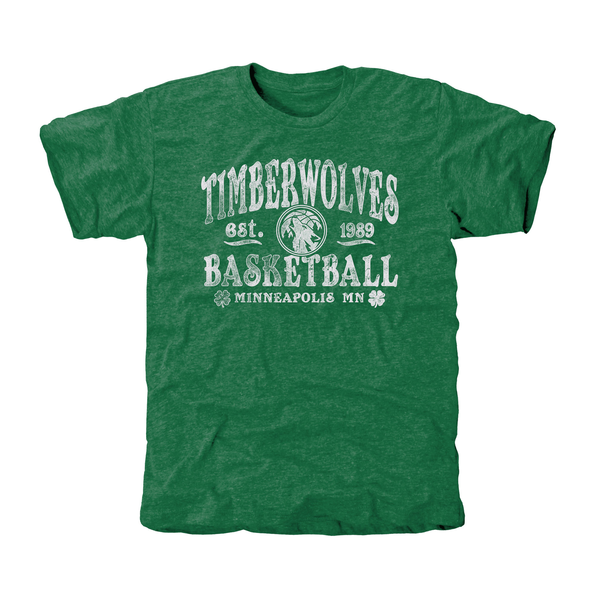 Minnesota Timberwolves St. Patrick's Day Blarney Tri-Blend T-Shirt - Green