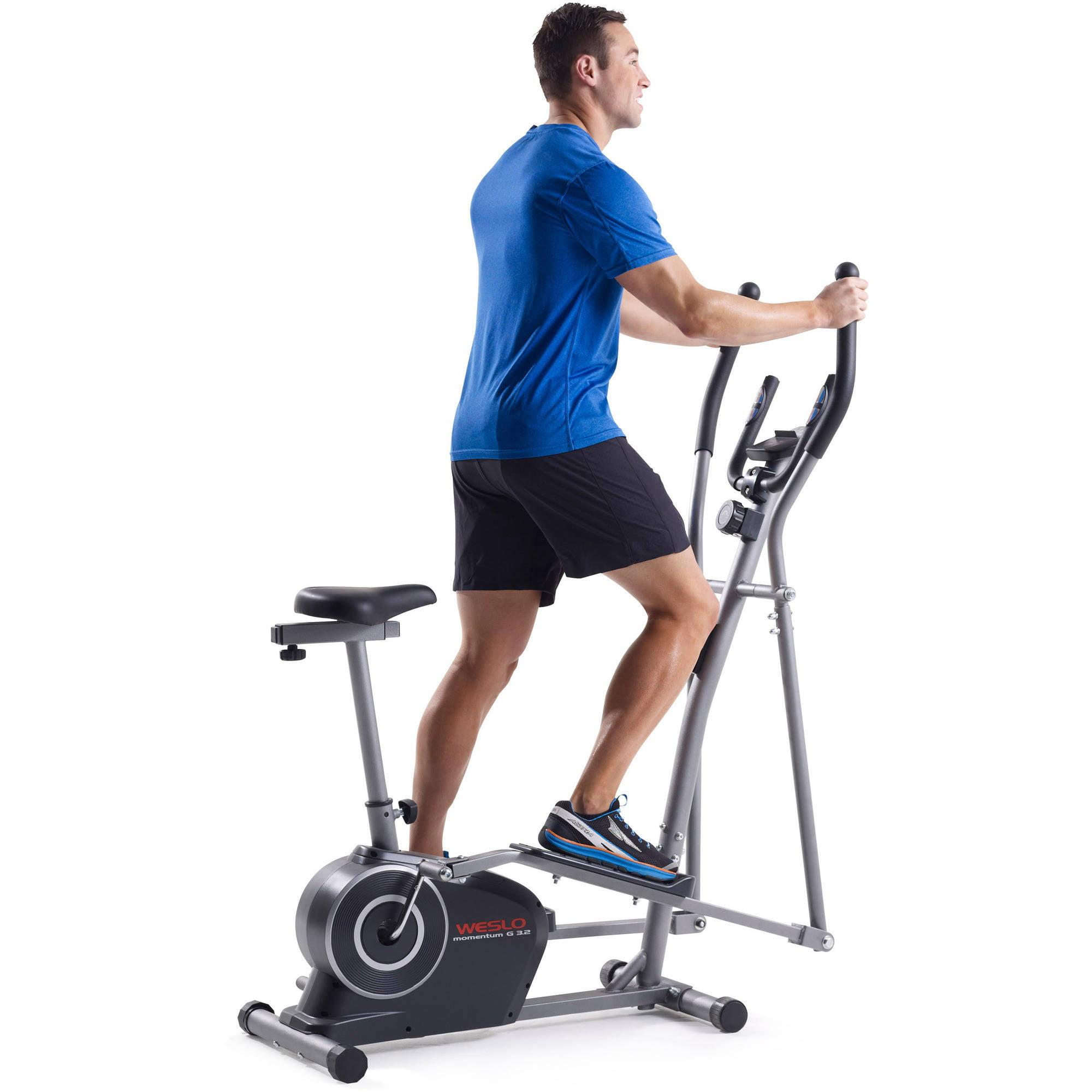 Elliptical Bike Trainer Exercise Fitness Workout Cardio