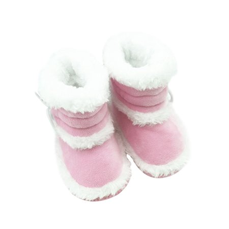 Babula Toddler Infant Baby Girl Soft Crib Prewalker Winter Snow Boots - Baby Firefighter Boots