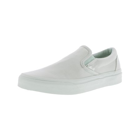 48df097280 Vans Classic Slip-On Mono Canvas Milky Green Ankle-High Skateboarding Shoe  - 8.5M   7M - Walmart.com