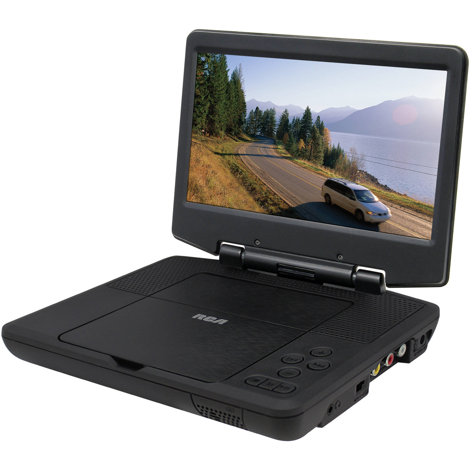 portable 9 dvd player on screen control lcd car adapter 5. Black Bedroom Furniture Sets. Home Design Ideas