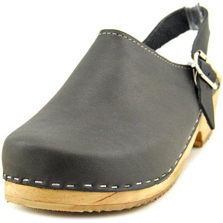 Mia Alma Women  Round Toe Leather Black Clogs