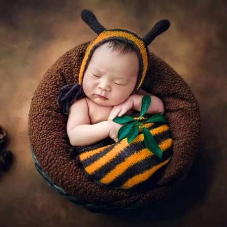 Newborn Baby Knit Sleeping bag Costume Photo Photography Props - Swaddle Outfit