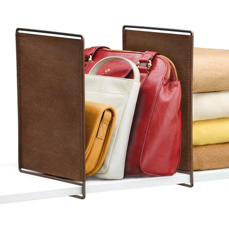 Lynk Vela Shelf Dividers, Closet Shelf Organizer (Set of 2) - Bronze ()