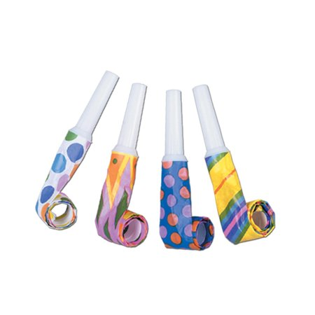 Party Blowouts (Club Pack of 100 Multi-Colored Noisemaker Blowout Party)
