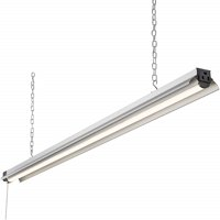 Newhouse Lighting 4' LED Linkable Shop Light - 5000 Lumens - 55W - 4000K - 100W Equivalent - 5 Year Warranty - Pull Chain Switch