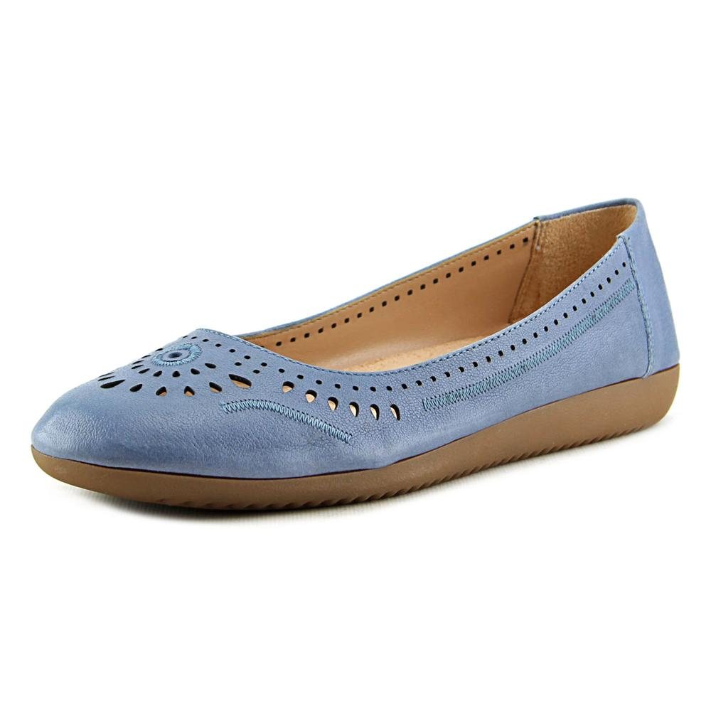 Naturalizer KANA SLIP ON Women N S Round Toe Leather Blue Flats by Naturalizer