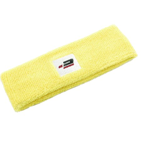 Elastic Fabric Sweatband Protective Sports Excercise Head Band Yellow