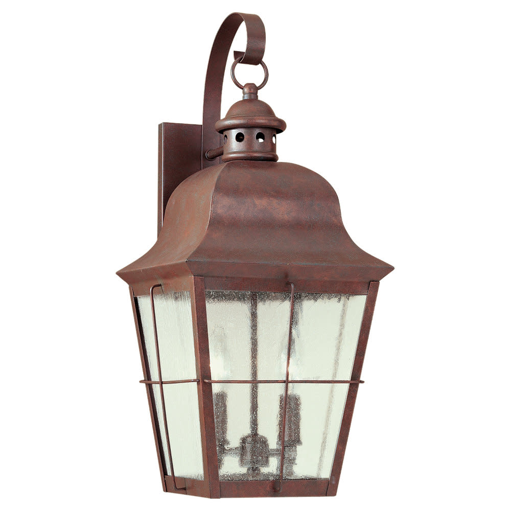 Sea Gull Lighting 8463 Colonial Styling 2 Light Outdoor Lantern Wall Sconce