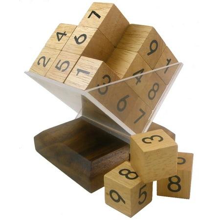 3D Wooden SUDOKU Cube Puzzle / -