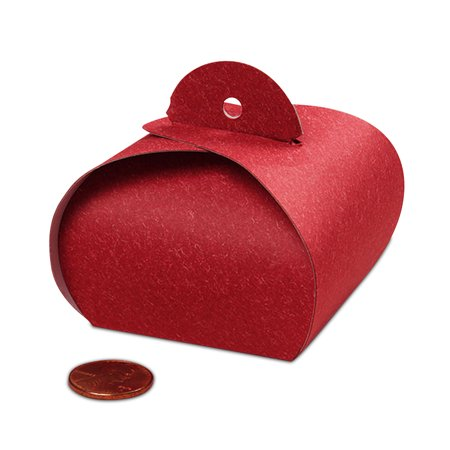 "Red Tulip Favor Boxes 2"" X 2"" 