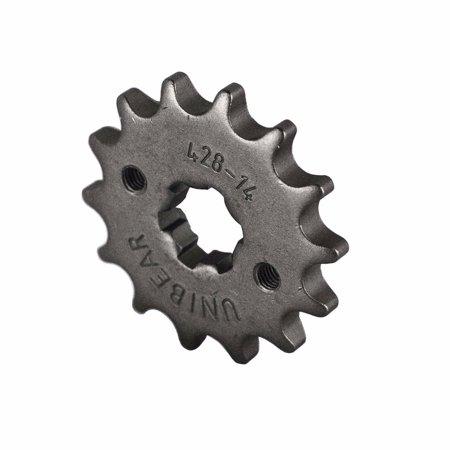 Natural Dirt Torpedo (428 Motorcycle Front Sprocket 14 Tooth Perfect for Dirt Bike, Go Kart, ATV )