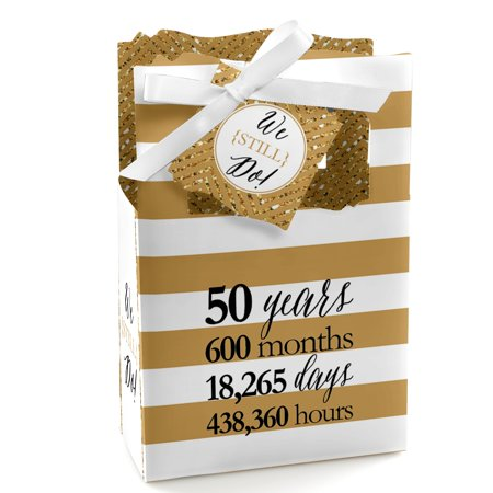 (We Still Do - 50th Wedding Anniversary Party Favor Boxes - Set of 12)
