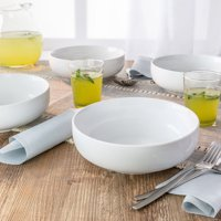 Better Homes & Gardens Porcelain Coupe Serve Bowls, White, Set of 4