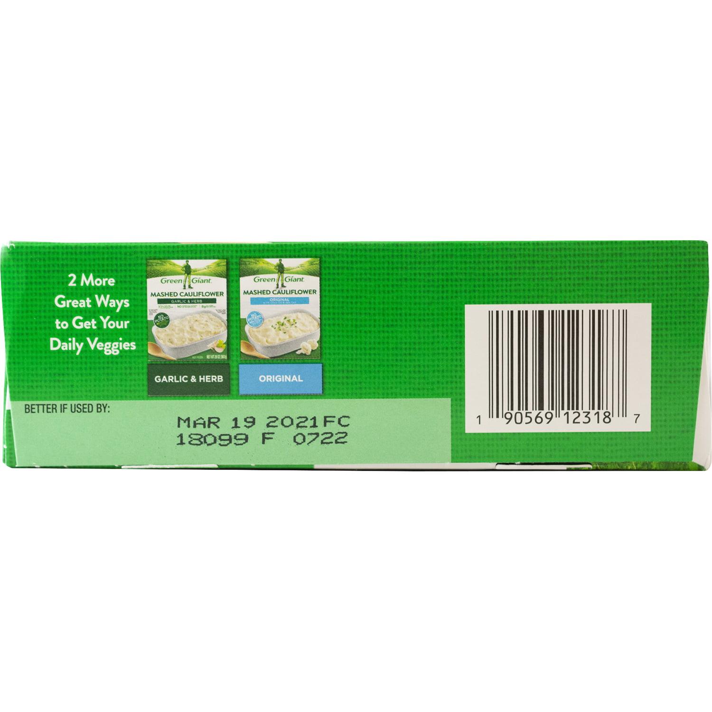 Green Giant Mashed Cauliflower Cheddar Bacon 20 Oz Box Walmart Com Walmart Com