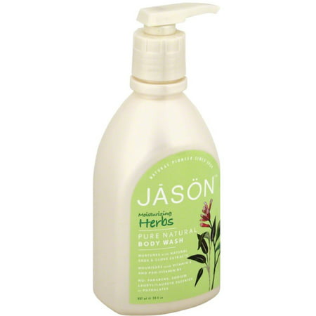 6 Pack - Jason Moisturizing Herbs Pure Natural Body Wash 30 oz