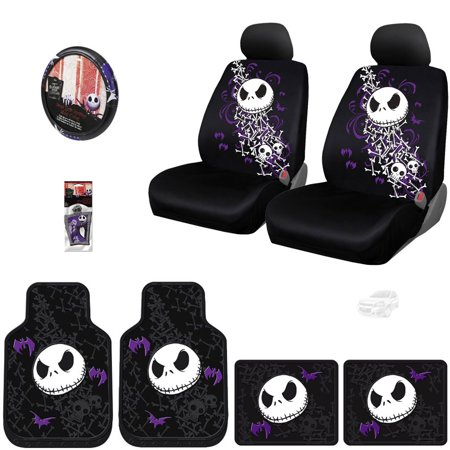 Nightmare Before Christmas Jack Skellington 10PC Car Seat Cover Set - Shipping Included ()