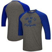 672f8ab52 Product Image Chicago Cubs Under Armour Heritage Performance Tri-Blend  Raglan 3 4-Sleeve T