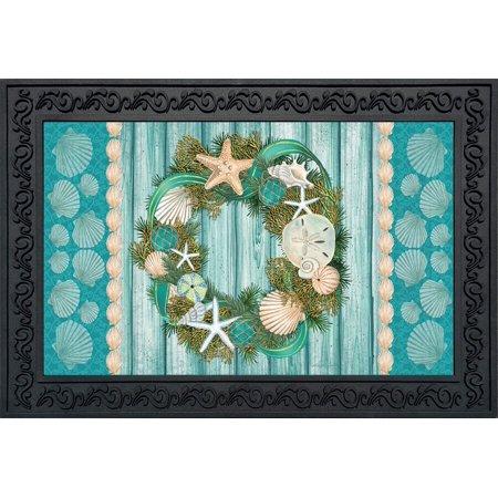 Briarwood Mesh (Coastal Wreath Summer Doormat Nautical Indoor Outdoor 18