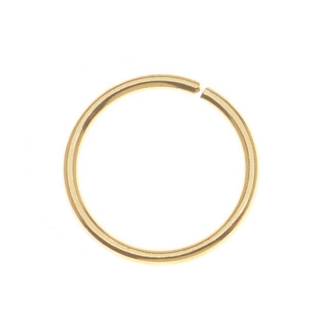 10mm Open Jump Rings 18 Gauge- Gold Plated (50)