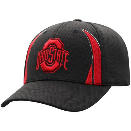 Ohio Football Hat (Men's Russell Black Ohio State Buckeyes React Adjustable Hat - OSFA )
