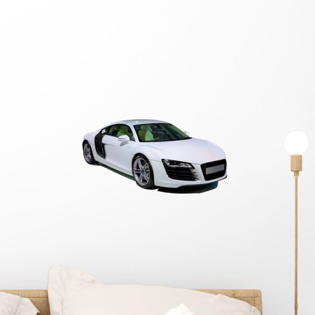 Peel Coupe - Sport Coupe Car White Wall Decal by Wallmonkeys Peel and Stick Graphic (18 in W x 9 in H) WM14184