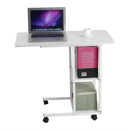 EECOO Home Office Portable Mobile Over Bed Table Sofa Couch Rolling Wheel Laptop Computer Desk ()