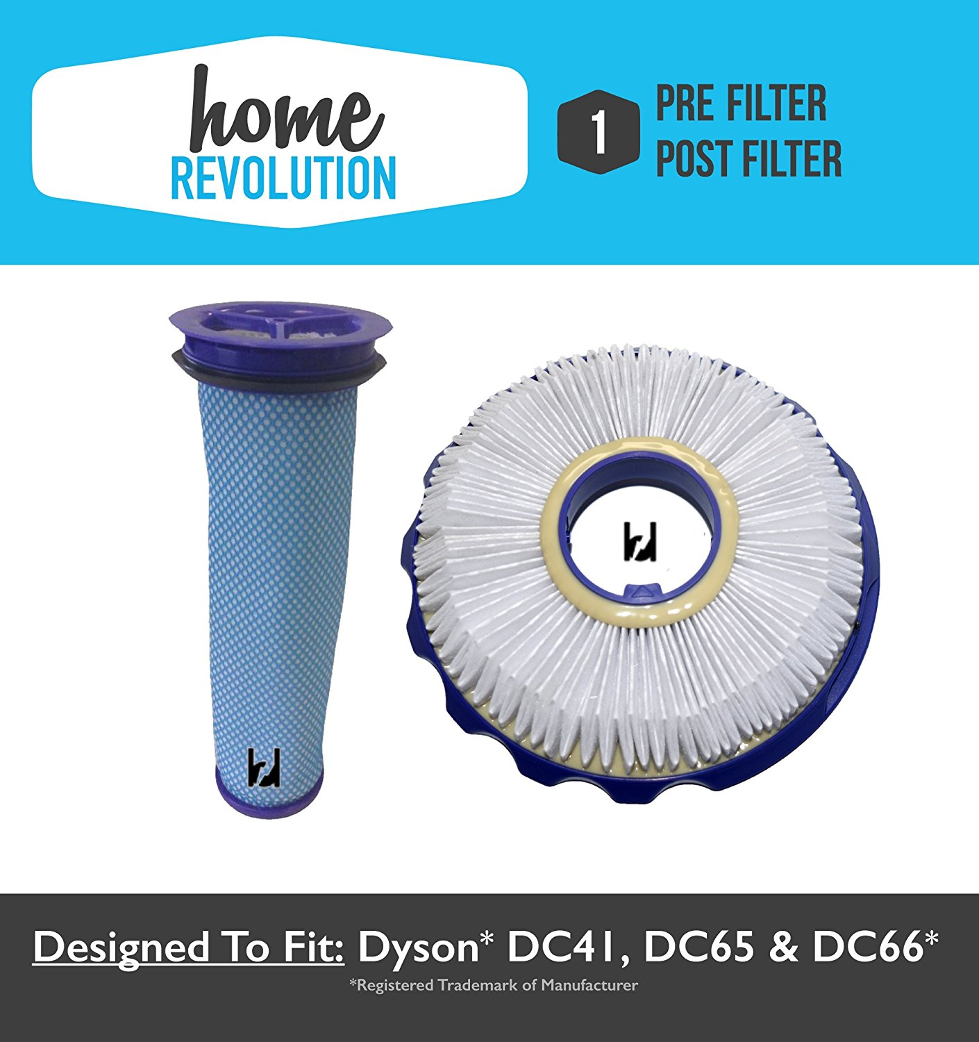 Dyson DC41, DC65 & DC66 HEPA  Replacement Filter & Washab...