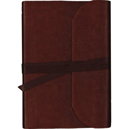 Heirloom Bible - KJV, Journal the Word Bible, Large Print, Premium Leather, Brown, Red Letter Edition : Reflect, Journal, or Create Art Next to Your Favorite Verses