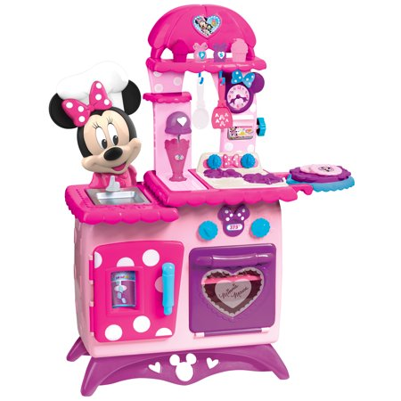 Minnie Mouse Flipping Fun Play Kitchen With 12 Minnie Inspired Kitchen Accessories