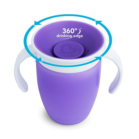 Munchkin Miracle 360 Trainer Cup, Purple, 7 oz